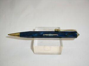 VINTAGE-Germany-RHEINMETALL-Blue-Celluloid-1-18mm-Propelling-Pencil-K
