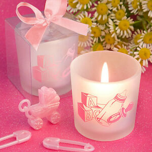 12 Pink Baby Girl Theme Candles Baby Shower Christening Birthday Favors