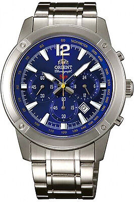ORIENT FTW01004D0,Men Chronograph,New,Stainless,50m WR,WITH TAG AND GIFT BOX