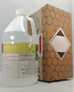 99.6+% Glacial Acetic Acid, 1 Gallon HDPE Plastic Bottle, MSDS INCLUDED