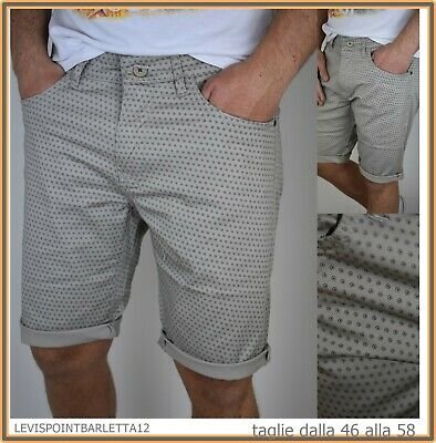 Ospitale Guy Bermuda Shorts Jeans Corti Da Uomo In Cotone Slim Beige 46 48 50 52 54 56 58 Conveniente Da Cucinare
