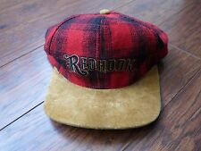 Redhook Brewing Co. Beer Strapback hat cap flannel suede 90s seattle lumberjack