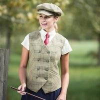 Equetech Hambleden Tweed Riding/showing Gilet Size 10 - 14