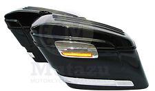 Mutazu Vivid Black HL Hard Saddlebags fits Harley HD Softail Sportster Dyna