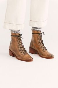 ANKLE BOOT BOOTIE DISTRESSED BROWN