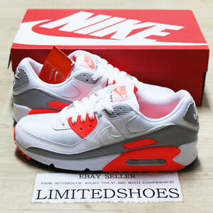 Details about 2020 NIKE AIR MAX 90 WHITE HYPER ORANGE GREY CT4352-103 Mens  Causal Shoes