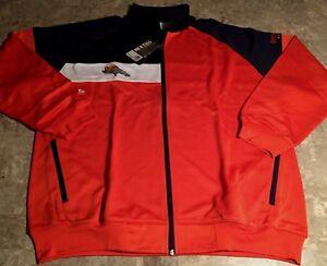 573ebe412 Image is loading Denver-Broncos-Color-Block-Track-Jacket-2XL-Orange-