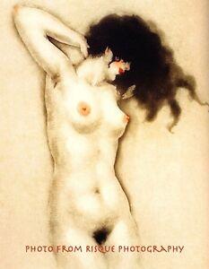 "Nude Woman Drawing 8.5x11"" Photo Print Louis Icart Naked Pin-up Fine Artwork"