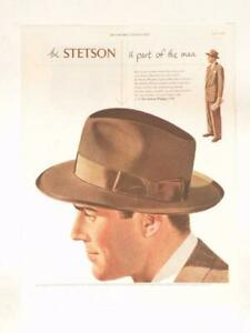 Magazine Ad* - 1950 - Stetson Men's Hats - The Whippet - (#2)