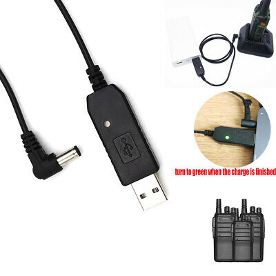 Red-Fire 2.5mm USB Charger Cable with Indicator Light for BaoFeng UV-5R BL-5L 3800mAh High Capacity Battery