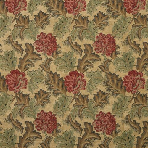 Iliv Red Earth Tapestry Floral Curtain Makers Fabric Harrington