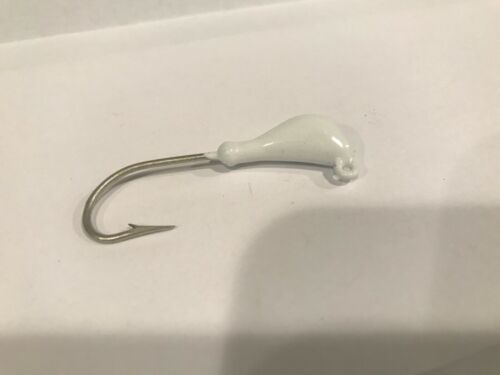 Banana Style Jig Heads White 10 of 1//4 oz 2//0 Eagle Claw Thick Wire Hook