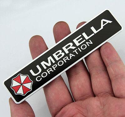 Auto Car Alu Emblem Badge Fenders Decal Sticker For UMBRELLA CORPORATION NEW