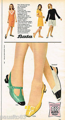Publicite Advertising 065 1966 Bata Chaussures Collection 18 Ans Collectibles Other Breweriana