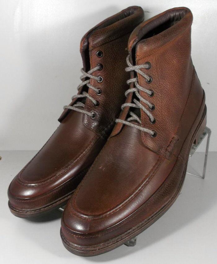 5939559 FTBT50 Men's Shoes Size 10 M Brown Leather Boots Johnston Murphy