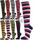 Women's Colorfull Striped Cotton Tube Knee High Socks
