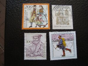 Germany-Rfa-Stamp-Yvert-and-Tellier-N-1593-A-1596-Obl-A5-E