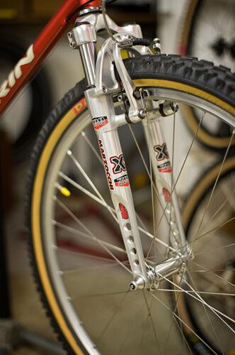 MARZOCCHI xc600 or xc700 Fourche à ressort//suspension Fork Aluminium Silver Eloxal!!!