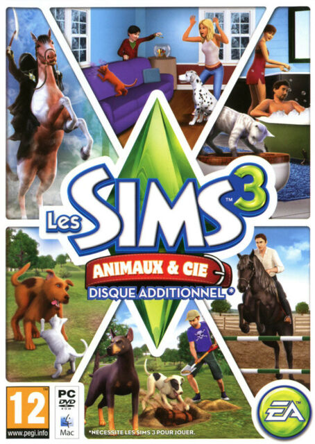 LES SIMS 3 ANIMAUX & CIE / JEU PC / NEUF SOUS BLISTER D'ORIGINE / VF