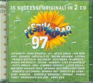 Festivalbar-039-97-Jovanotti-Articolo-31-Litfiba-Battiato-U2-Inxs-2X-Cd-Perfetti