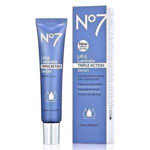 No7 Lift & Luminate TRIPLE ACTION Serum - 1.0 oz Aveeno Active Naturals Smart Essentials Daily Nourishing Moisturizer, Spf 30 - 2.5 Oz, 6 Pack