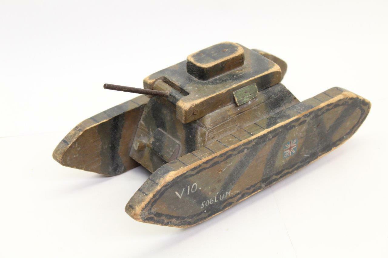 Scratch costruito in legno Tank WW2 PRIGIONIERO DI GUERRA costruito uno OFF-RARA B23