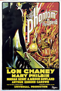 "Phantom of the Opera c.1943-24/""x36/"" Giclee Canvas Classic Movie Poster"