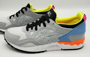 Asics-Gel-Lyte-V-Mid-Grey-Yellow-Orange-Blue-Running-Shoes-Women-039-s-Size-7