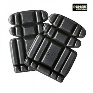 Apache Black Foam Knee Pads For Knee Pocket Work Trousers Bib & Brace Dungarees