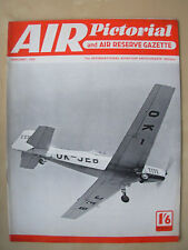 AIR PICTORIAL MAGAZINE JANUARY 1958 CZECH AIR FORCE ZLIN 126 TRENER II