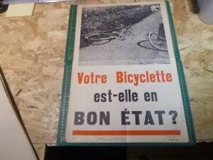 Affiche-Prevention-Securite-accident-50-039-s-AINF-RARE-velo-Cyclisme