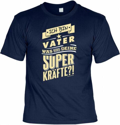 T-Shirt Ich bin Vater Funshirt Geschenk Väter Was sind deine Superkräfte