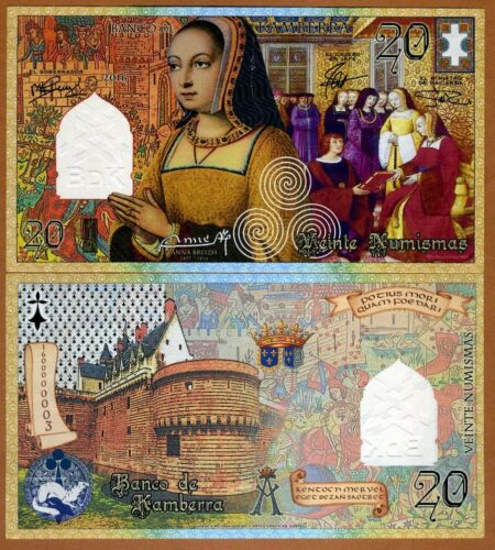 2016 20 Numismas French style UNC /> Anne of Brittany Kamberra Commemorative