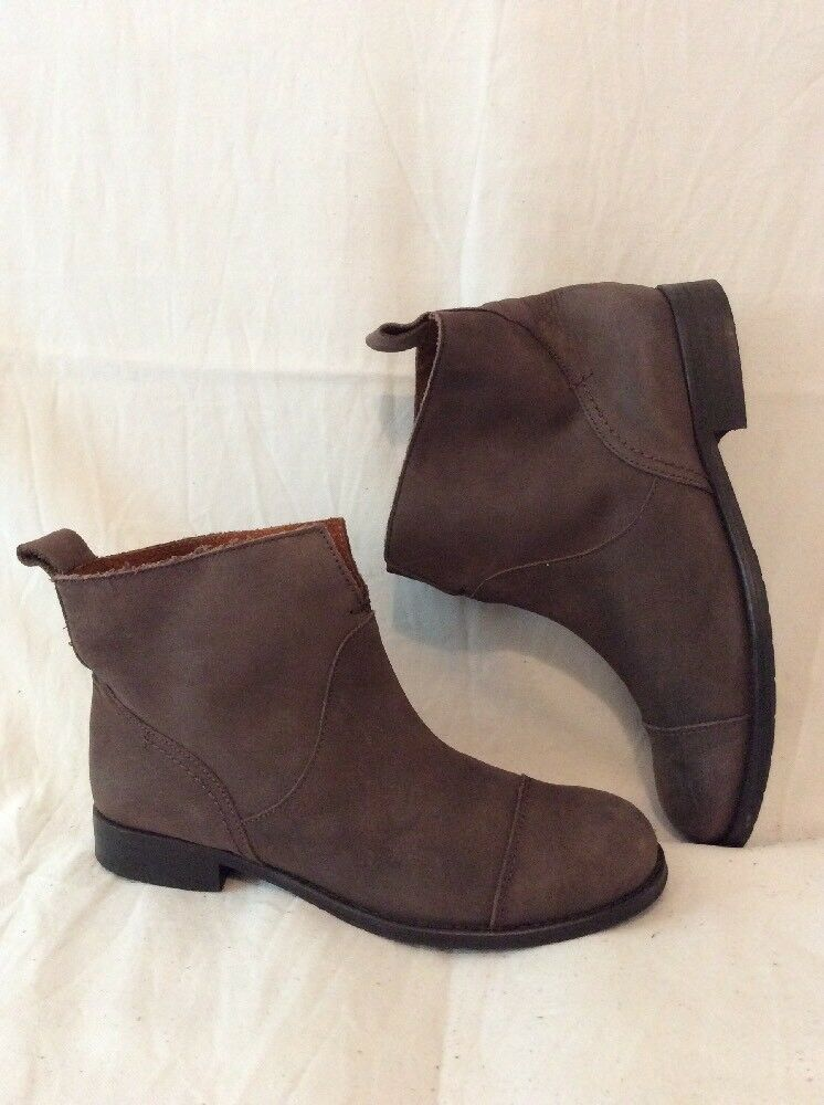 Sixty Seven Brown Ankle Leather Boots Size 38