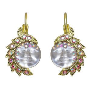 Kirks-Folly-Seaview-Moon-Goddess-In-Wonderland-Leverback-Earrings-Goldtone