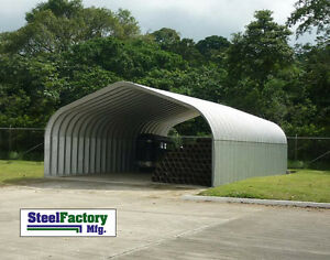Steel-Residential-Carport-16x20x12-Pitched-Roof-ATV-Motorcycle-Cover-Building