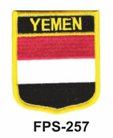 2-1/2'' X 2-3/4 Yemen Flag Embroidered Shield Patch