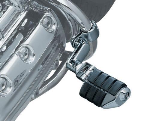 Kuryakyn 7993 Chrome Dually Highway Foot Pegs w// Off Set For Harley 1-1//4 Tubing