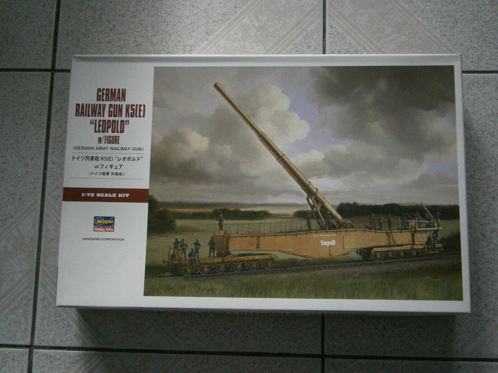 MAQUETTE WW2 GERMAN RAILWAY GUN K5(E) LEOPOLD HASEGAWA HASEGAWA HASEGAWA (31258) MT58 1 72 - 1 72 734