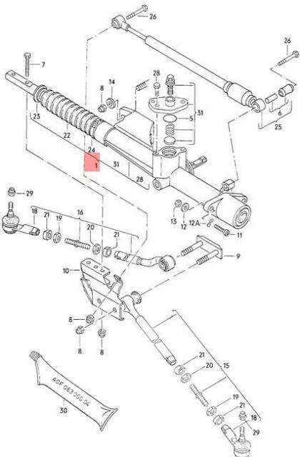 Buy Genuine Volkswagen Steering Gear Lhd Nos Vw Audi 811419063f