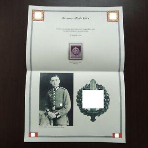 Germany-Nazi-1942-Stamp-MNH-Storm-Trooper-Emblem-WW2-Third-Reich-Swastika-German