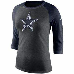 faf4ae78292b6 Dallas Cowboys Women s Tri-Blend Logo 3 4 Sleeve Raglan T-Shirt ...