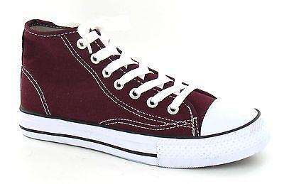 OFERTA Spot On X0002 Hombre Burdeos Cordones Hi Subir Lona Zapatillas Zapatos