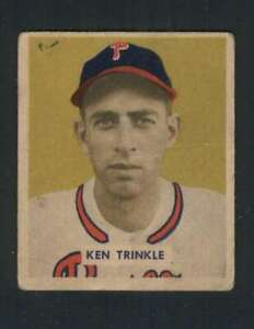 1949-Bowman-193-Ken-Trinkle-VG-VGEX-RC-Rookie-Phillies-104412