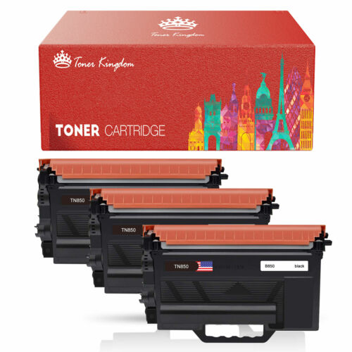 3PCS Black TN880 Toner High Yield TN850 For Brother HL-L6250DW L6400DWT L6200DWT