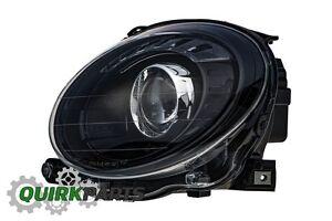 2012-2017-FIAT-500-BLACK-FRONT-LEFT-DRIVER-SIDE-HEADLIGHT-LAMP-OEM-NEW-GENUINE