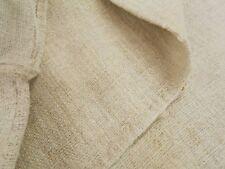 Vtg Antique NO STRIPE European HEMP LINEN Fabric FEED SACK GRAIN BAG 19X44