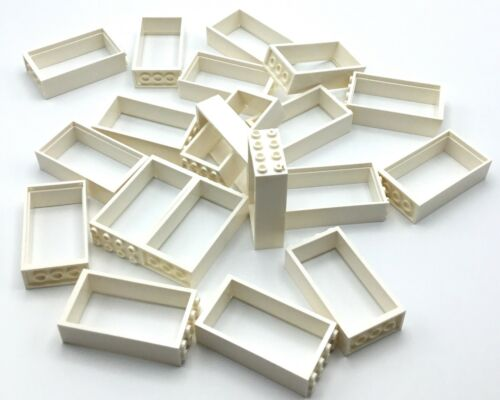 LEGO LOT OF 20 WHITE DOOR FRAME PIECES HOUSE HOME BUILDING PARTS