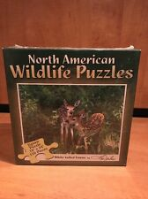 New 550 Piece North American Wildlife Puzzles White Tailed Fawns Factory Sealed