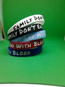 Family-Don-039-t-End-With-Blood-Rubber-Bracelet